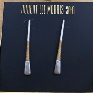 🆕 Robert Lee Morris two tone earrings NWT